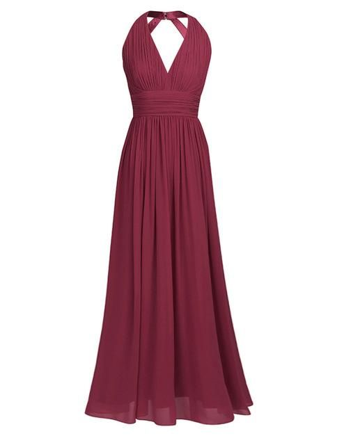 0d900779feac Long Bridesmaid Dresses Black Navy Blue Teal Burgundy Chiffon Wedding Party  Dresses for Bridesmaids #weddingdresses #womensclothing #womens #swimsuits  ...