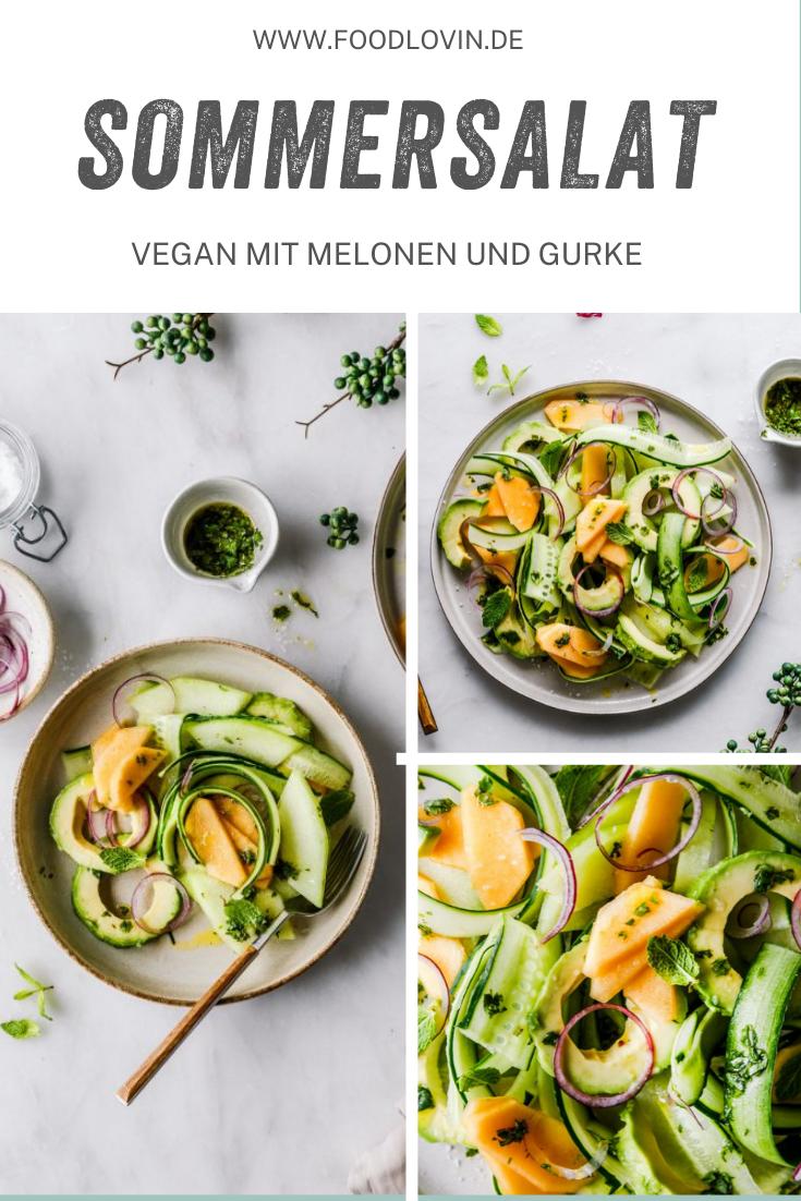 Erfrischender Melonen Gurken Salat Rezept In 2020 Lebensmittel Essen Melonen Salat Mit Melone