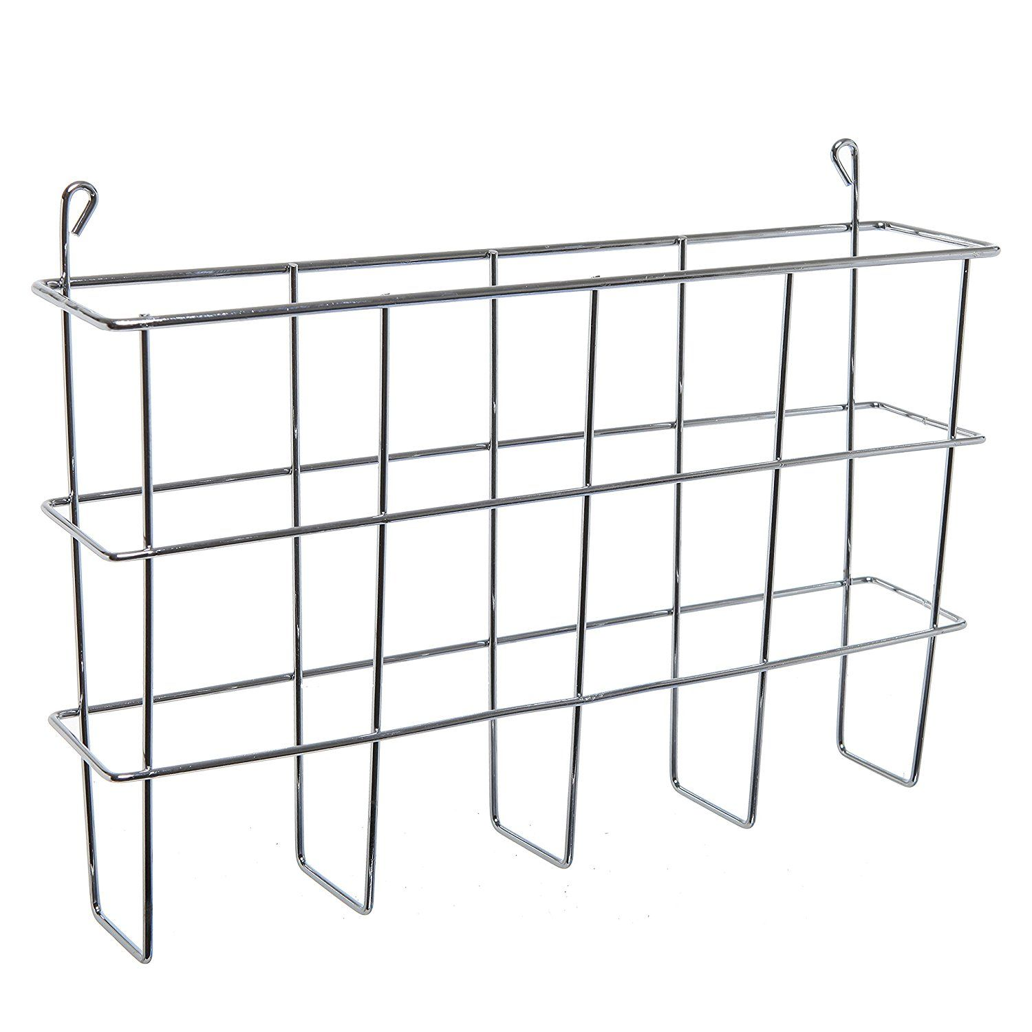 newspaper rack for office. Amazon.com : Modern Wall Mounted Silver Metal Magazine Storage Basket / Hanging Office File Newspaper Rack For T