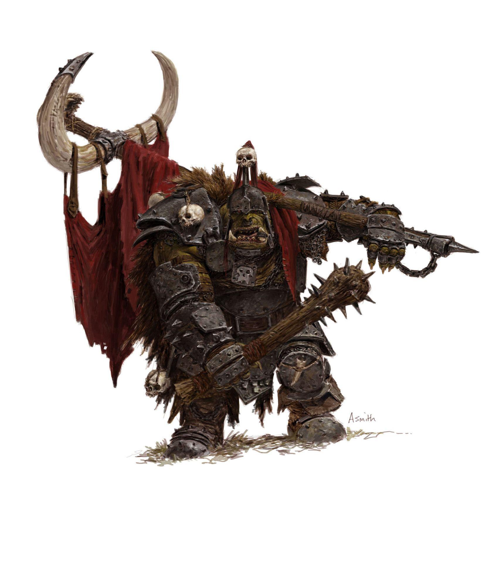 Forgeworld Games Workshop Concept Orc Biggun Standard Adrian Smith Warhammer Fantasy Warhammer Fantasy Roleplay Warhammer