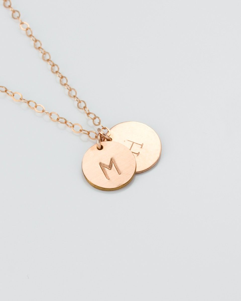 Rose Gold Personalized Necklace - Personalized Necklace for mom ...