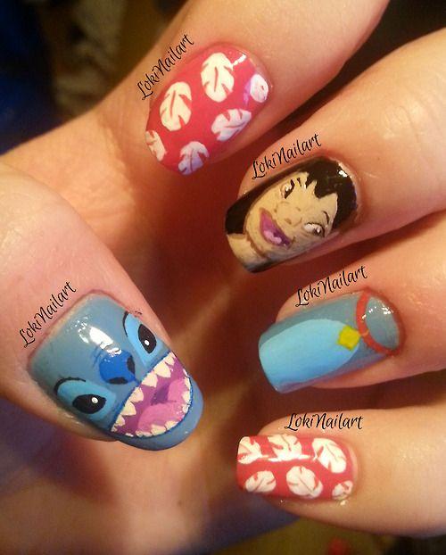 Nail Art Stitch: Nail Art Disney, Nails, Disney Nails