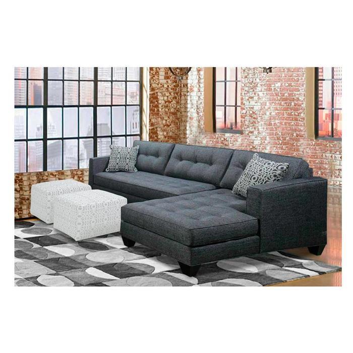 aspen midcentury 2piece sectional in denim grey nebraska furniture mart