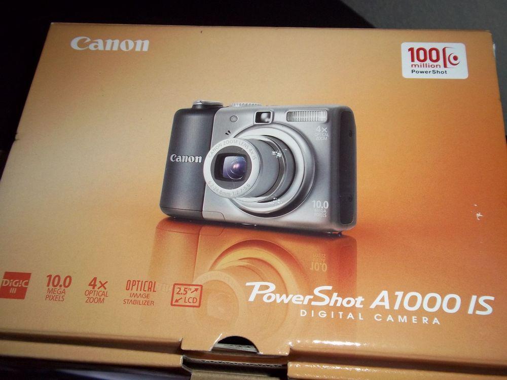 Canon Powershot A1000 Is 10 0 Mp Digital Camera Gray Powershot Digital Camera Canon Powershot