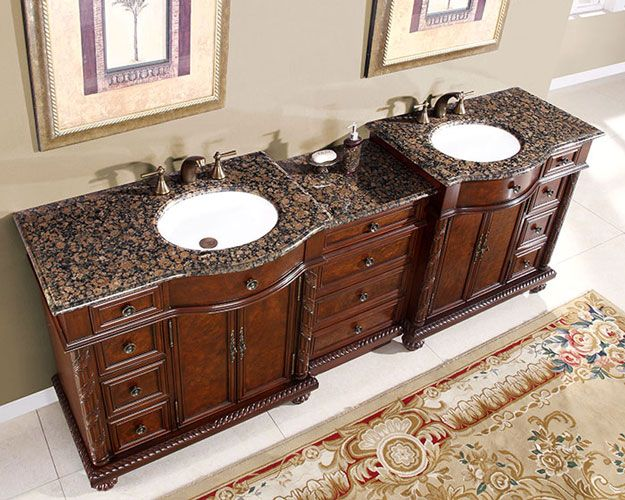 90 Inch Marley Vanity Extra Large Sink Chest 90 Inch Double