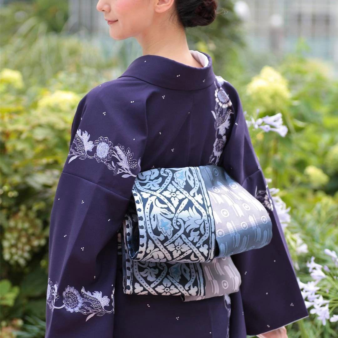 "4b082c77f05f1a 110 Likes, 7 Comments - きものやまと (@kimonoyamato) on Instagram: ""半幅帯結び「二筋太鼓」  お太鼓のような上品な形に仕上がるので、半幅帯のカジュアルさが苦手 ..."