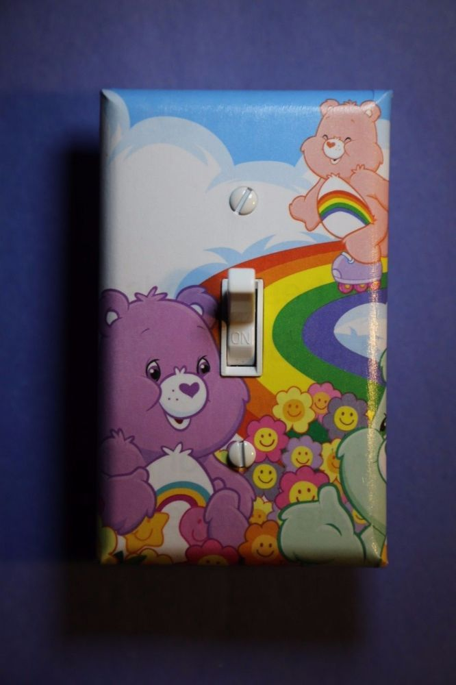 Care Bears Light Switch Cover Plate Kids Child Girls Home