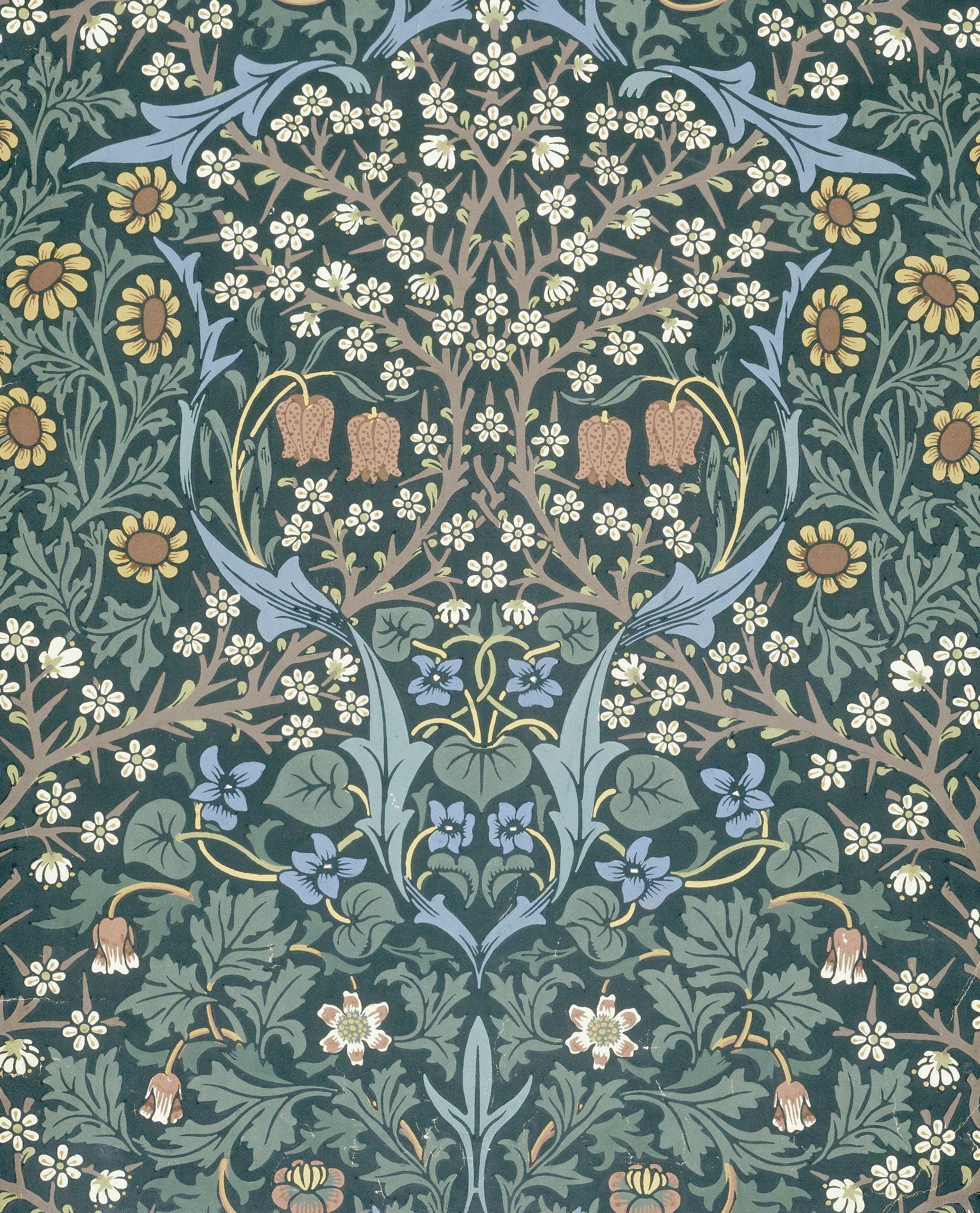 Wallpaper design by William Morris, London, 19th century ...