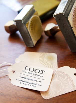Traditional merchandise tags for business cards