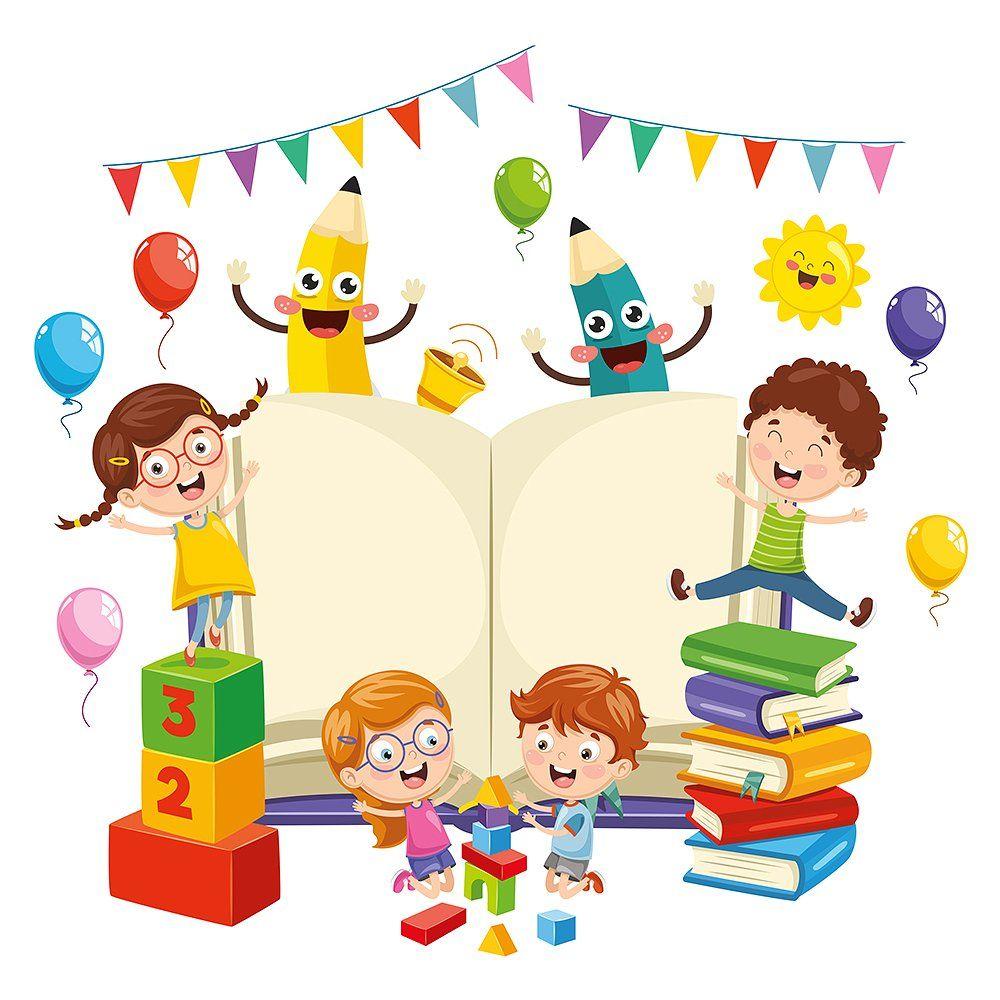 Illustration Of School Children Kids Background School Illustration Kids Clipart