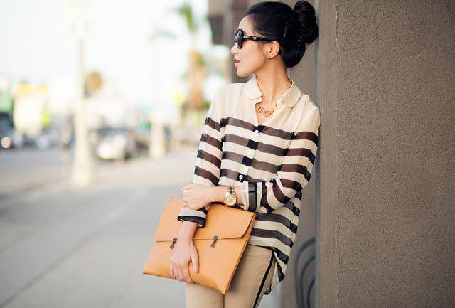 Sophie Striped Silk-Chiffon Shirt by Equipment - lifestylerstore - http://www.lifestylerstore.com/sophie-striped-silk-chiffon-shirt-by-equipment/