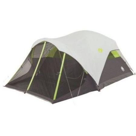 The Coleman Steel Creek 6 Person Fast Pitch Dome Tent with Screenroom is super easy to set up due to the pre-attached poles and Quick Setting Feet.  sc 1 st  Pinterest & Coleman Steel Creek 6-Person Fast Pitch Dome with Screenroom ...