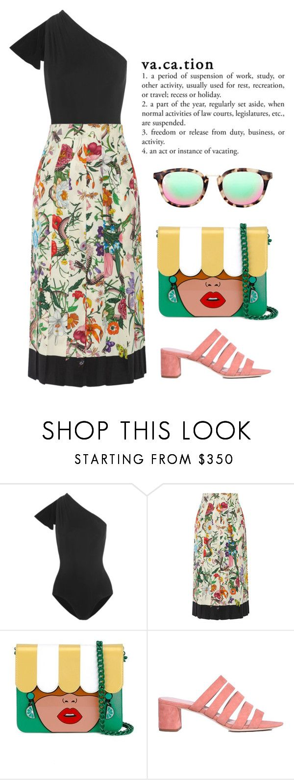"""""""Vacation"""" by cherieaustin ❤ liked on Polyvore featuring Araks, Gucci, Yazbukey and Loeffler Randall"""