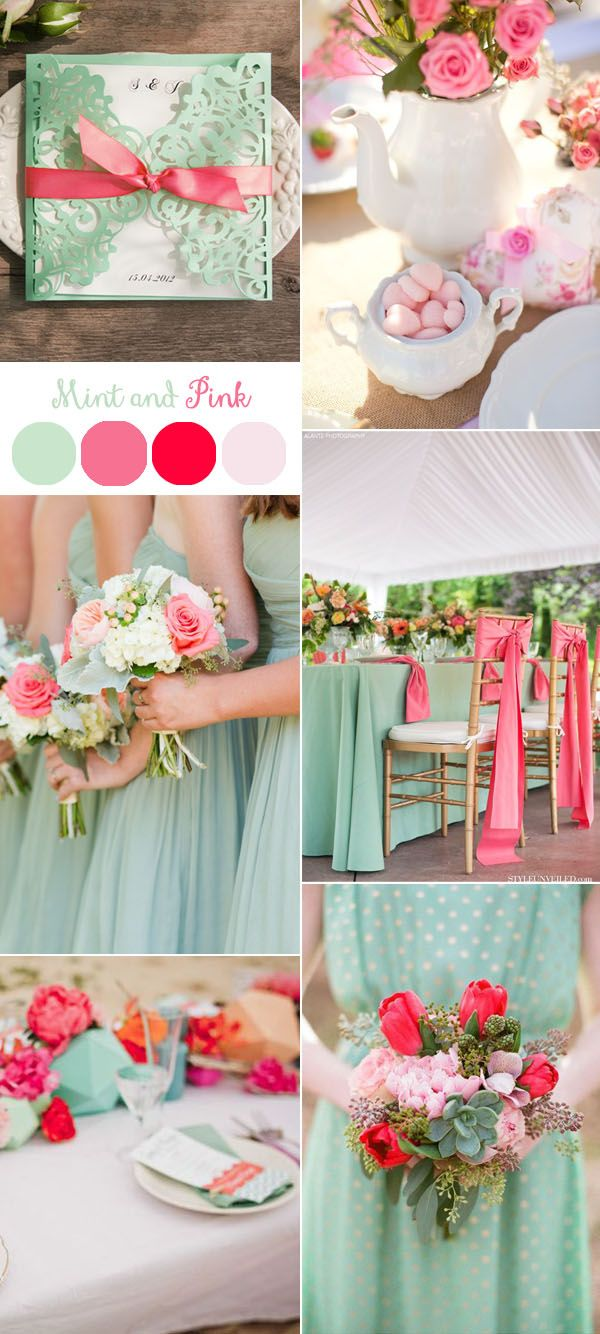 Gorgeous Mint Invitation Inspired Wedding Color Combo Ideas