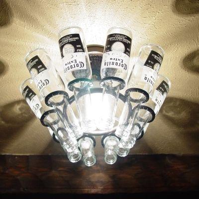 Belle lustre de garrafas …   Luminarias tops in 2019… XP-64