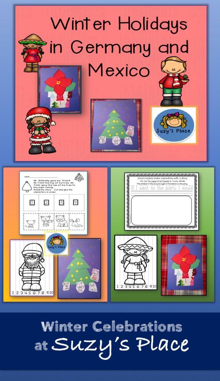 Christmas Around the World/Holiday Craftivities and Comprehension Activities | Comprehension activities. Cultural awareness activities. Activities