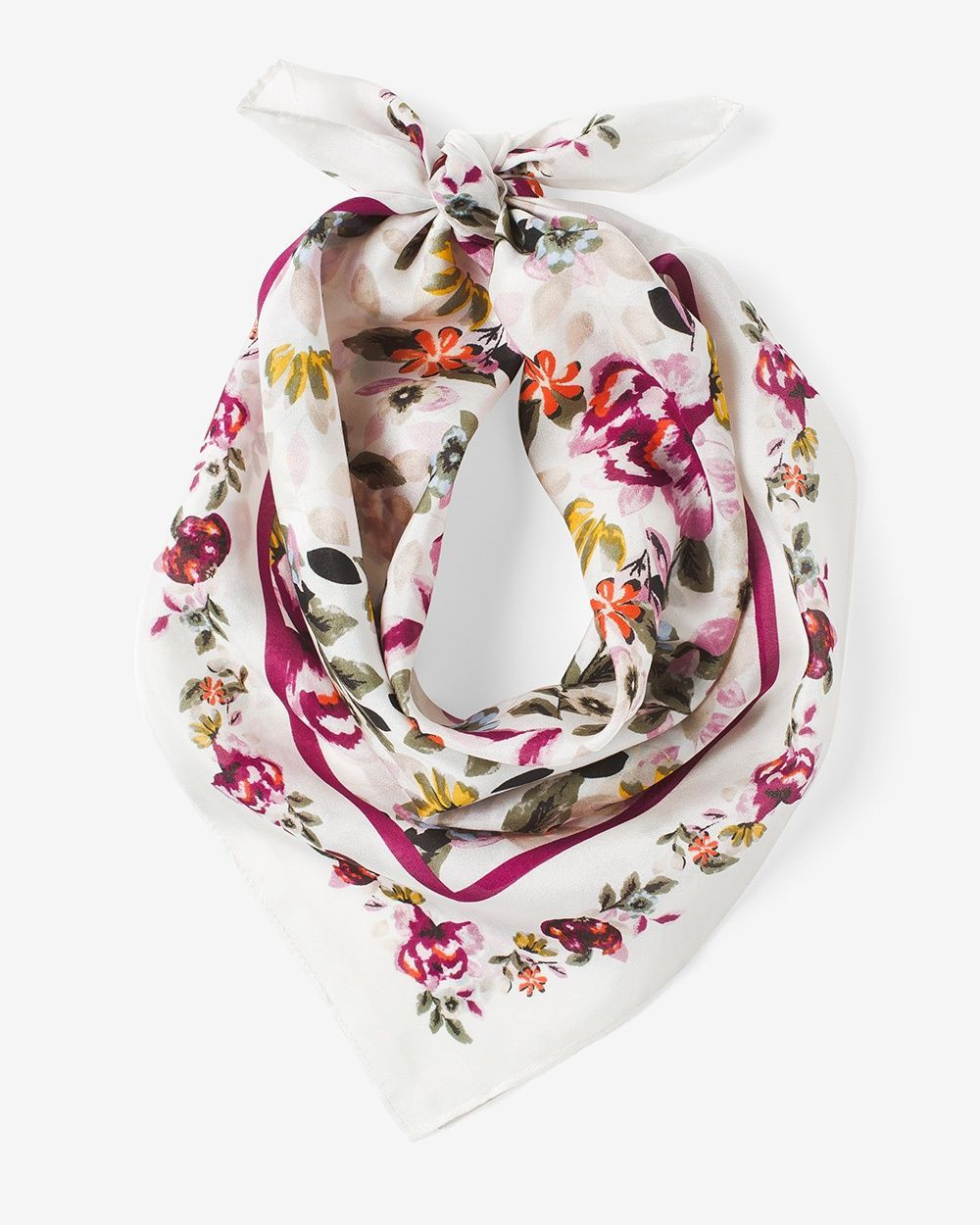 f7441923a01 Women's Silk Floral Mini Scarf by White House Black Market ...