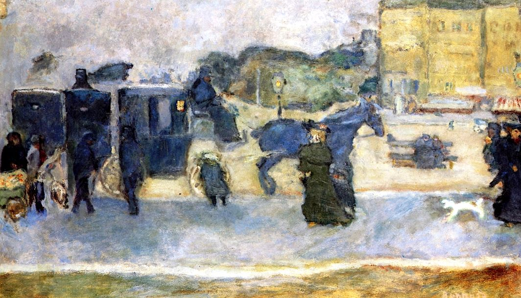 Two Carriages / Pierre Bonnard - 1901