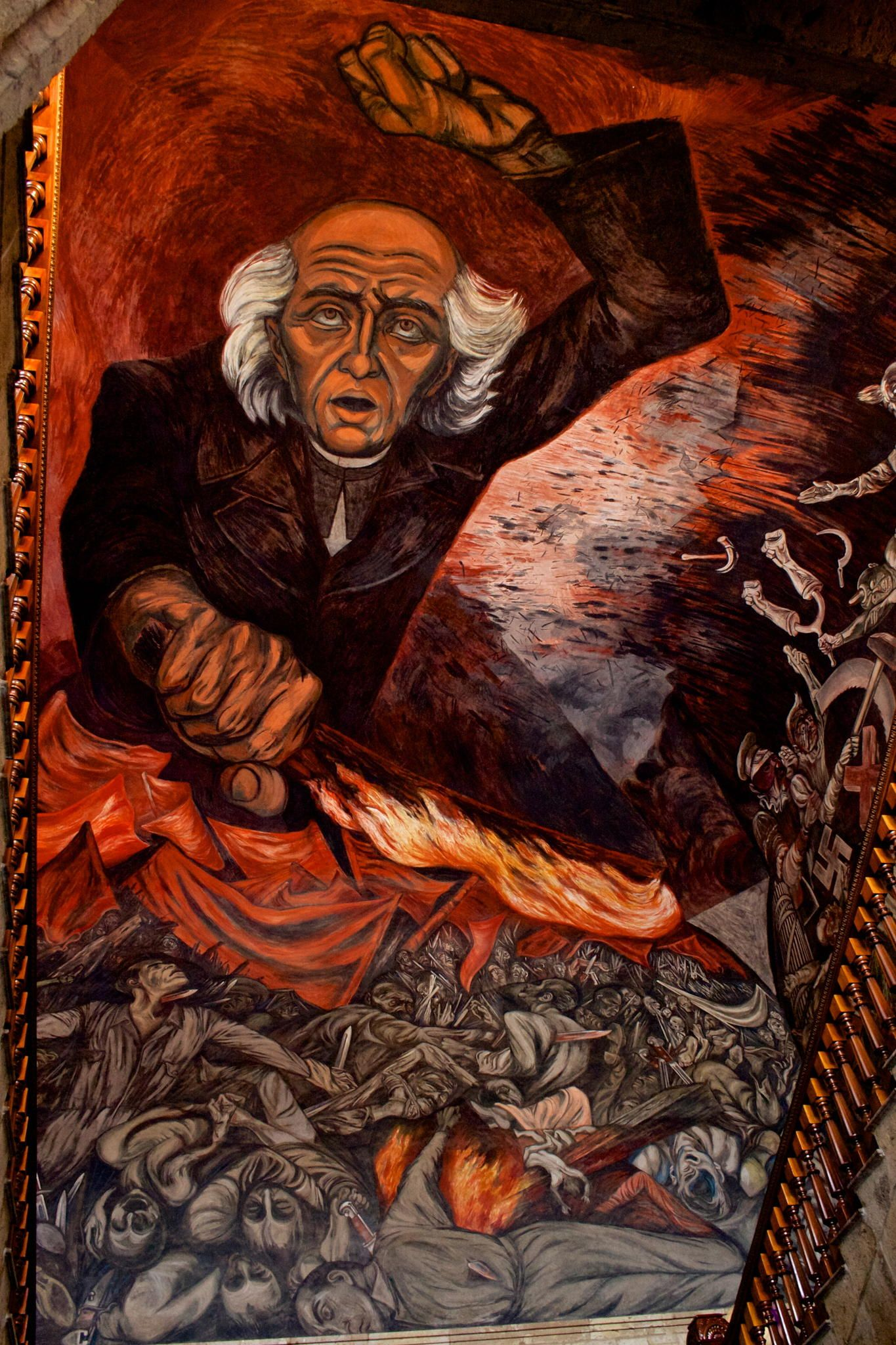 El inicio de un m xico impresionante mural en el for El mural guadalajara jalisco