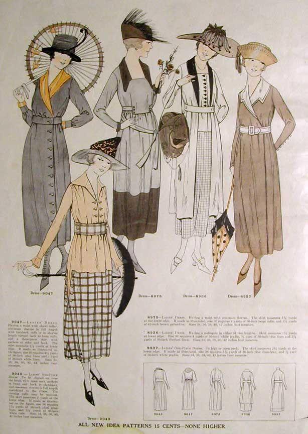 New Idea Quarterly - Summer 1918. So waren die Ladies im Sommer vor ...