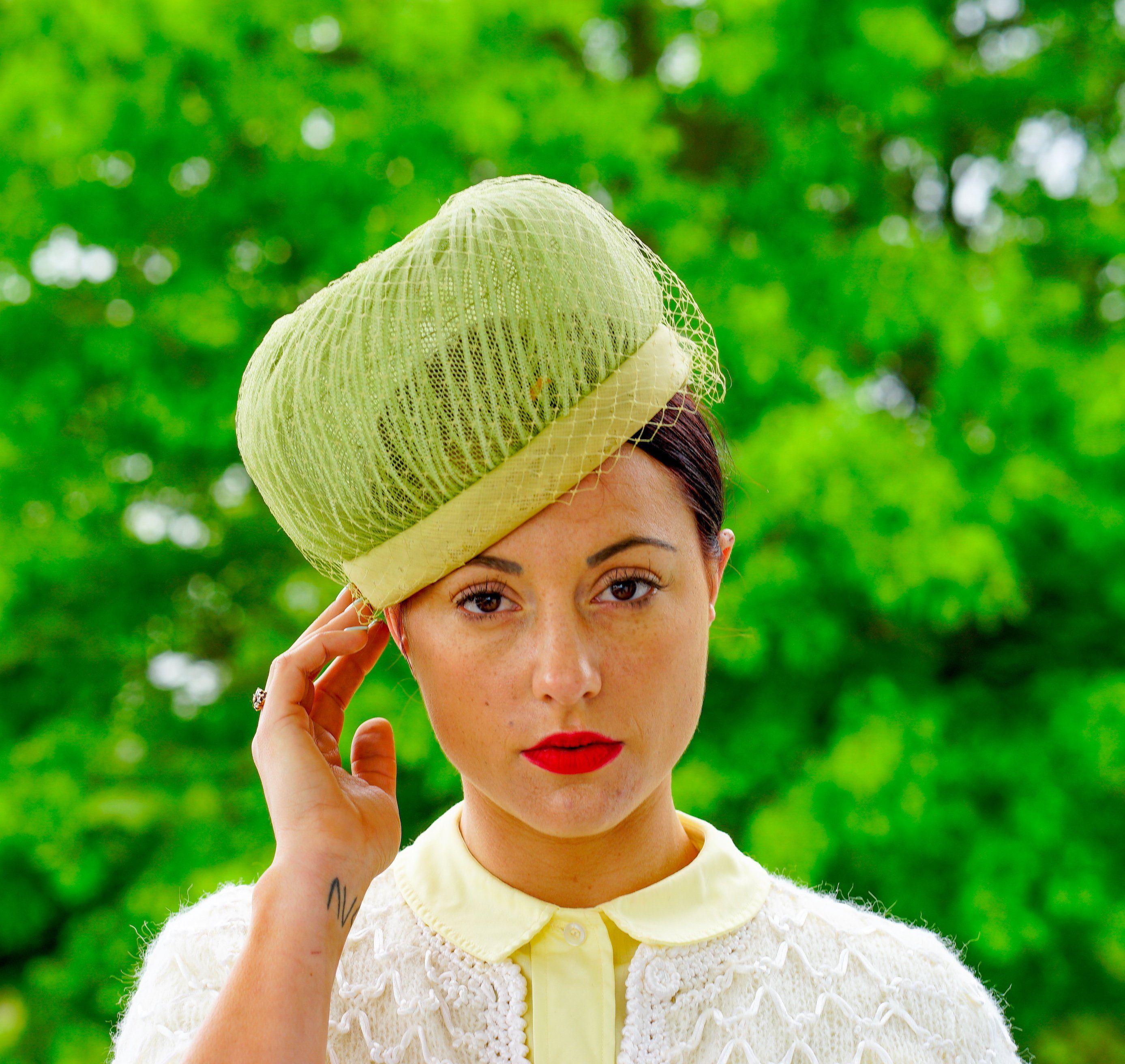 Tea Party Hat Vintage Hat Vintage Millinery Wedding Hat Vintage Red Pillbox Hat Made in France 1950s-1960s Hat Kentucky Derby Hat