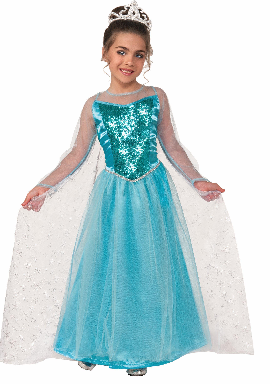 Frozen party Dress  Elsa blue Sequins blue   Girls fancy dress play