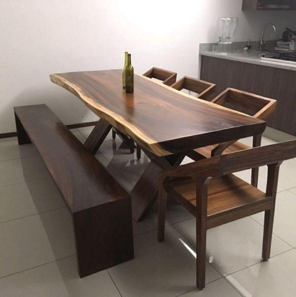 Comedores de madera de parota muebles sillas comedor for Muebles modernos para cocina comedor