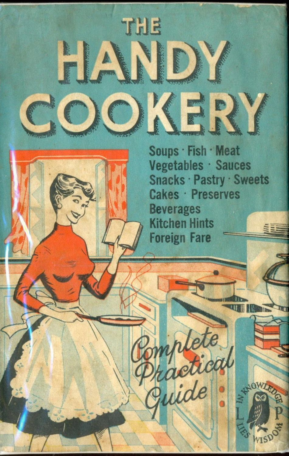 Vintage Cookbook Covers : The handy cookery vintage cookbooks from s