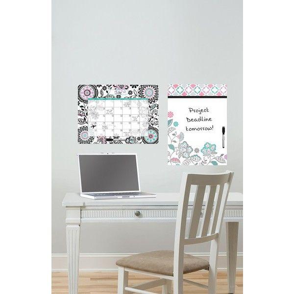Wallpops 'Floral Medley' Message Board & Wall Calendar (245 NOK) ❤ liked on Polyvore