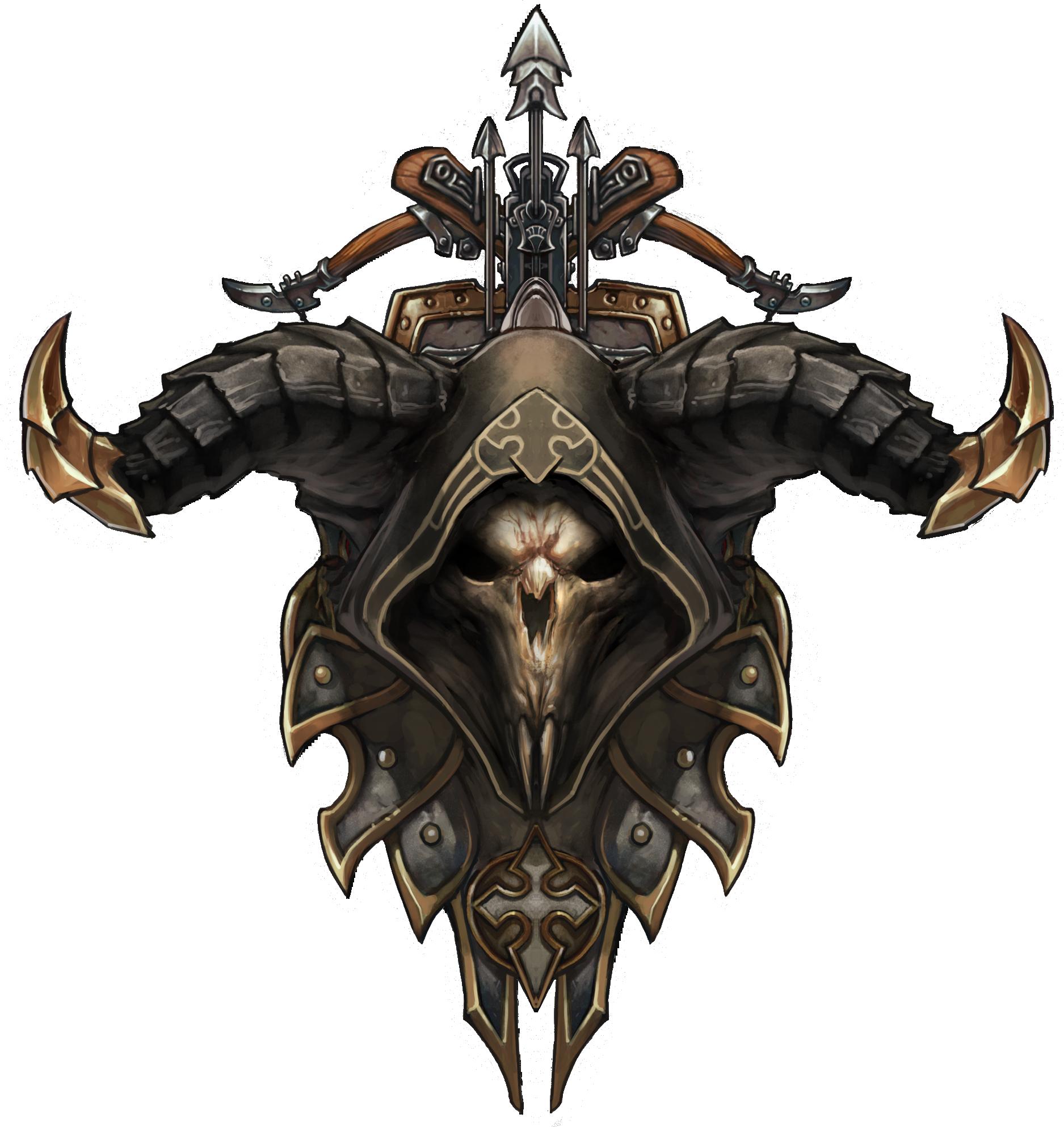 Demon Hunter 3 Png 1875 1986 Demon Hunter Diablo Demon Hunter Skull Face Paint
