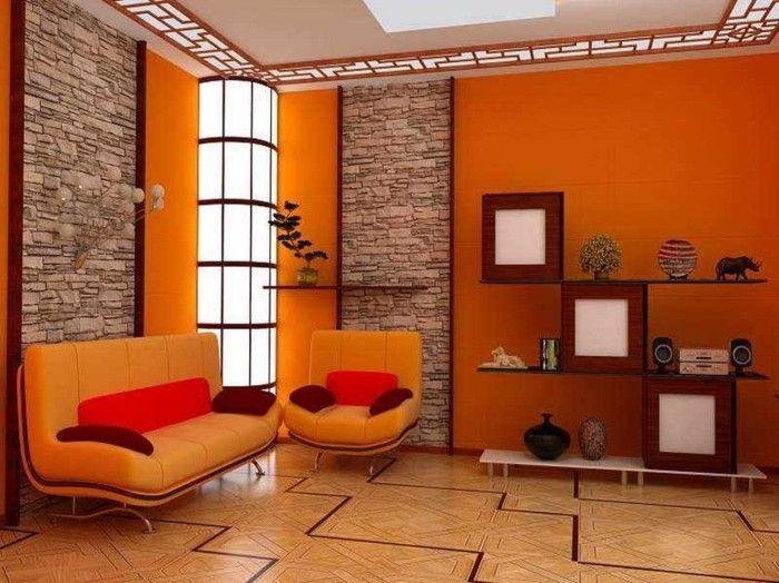 Lieblich Super Farben Kombinieren   Orange Wohnzimmer