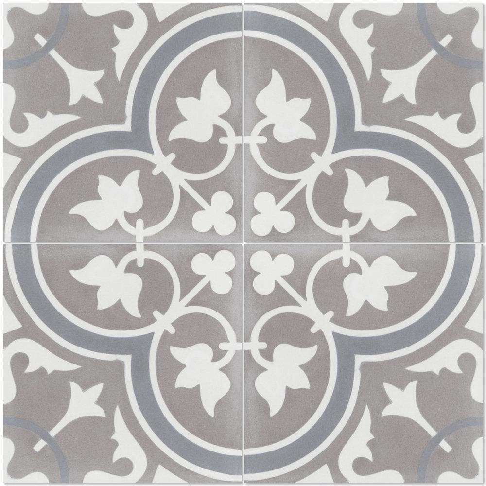 Villa Lagoon Tile Tulips B Holland 8 In X 8 In Cement Handmade Floor And Wall Tile Box Of 16 6 96 Sq Ft Sb20sq12fr Tulp2 S8 Rosetones Rustico Mosaicos