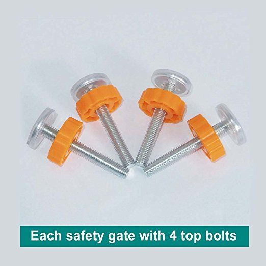 Pressure Mounted Baby Gates Threaded Spindle Rods 4 Pack Walk