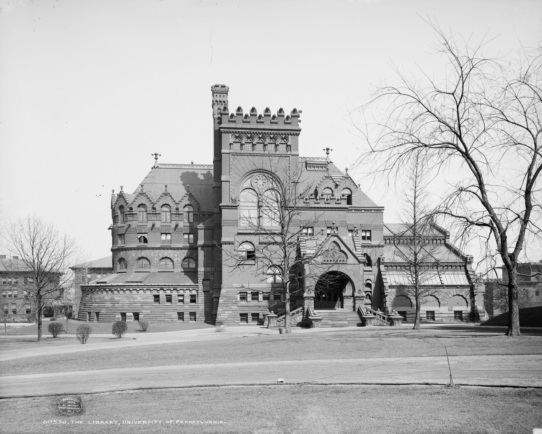 University of Pennsylvania Library in 1904 Philadelphia