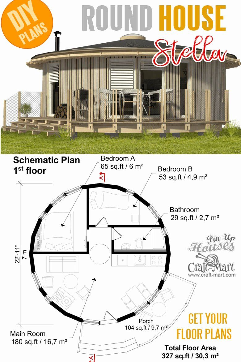 Tiny House Plans For Seniors Beautiful 16 Cutest Small And Tiny Home Plans With Cost To Build In 2020 Micro House Plans Round House Plans Tiny House Plans