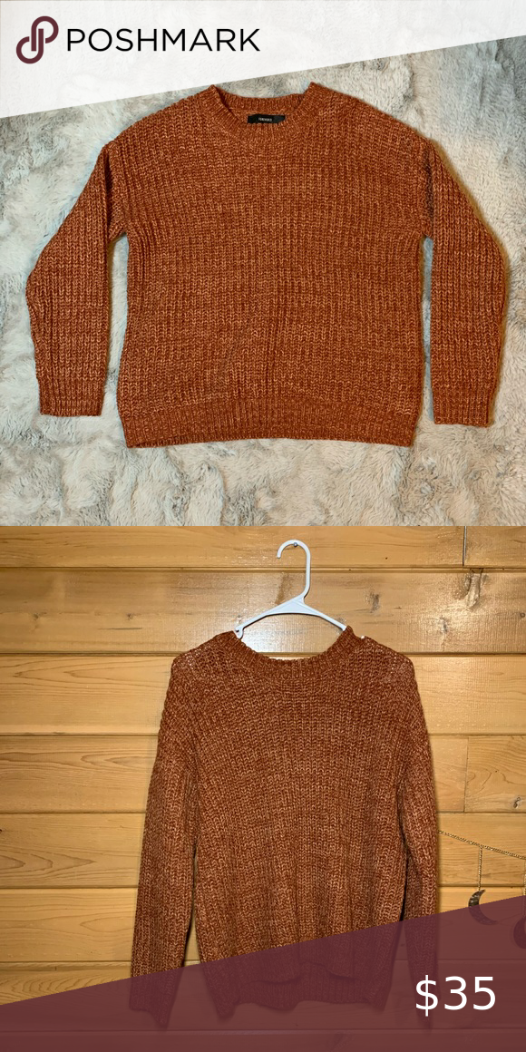 Burnt Orange Sweater by Forever 21