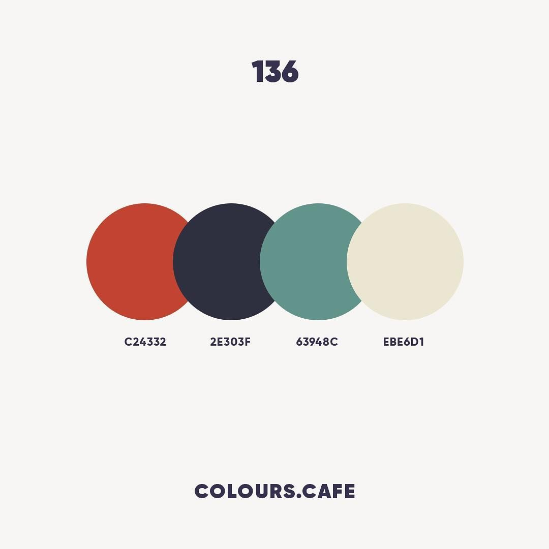 Colours Cafe On Instagram Colour 136 C24332 2e303f