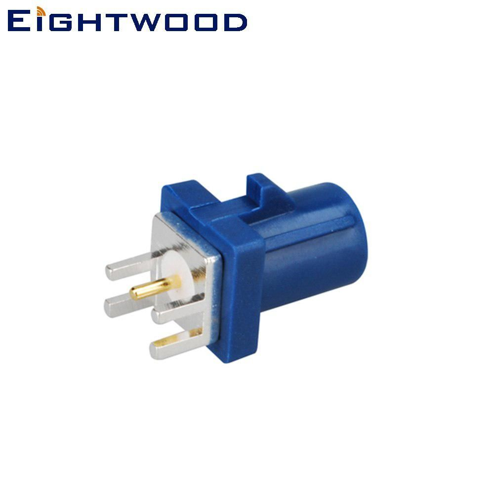 Eightwood 5pcs Fakra B Male Connector End Launch Pcb Mount Straight Blue 5005 Coding For Gps Telematics Or Navigation Gps Navigation Ebay