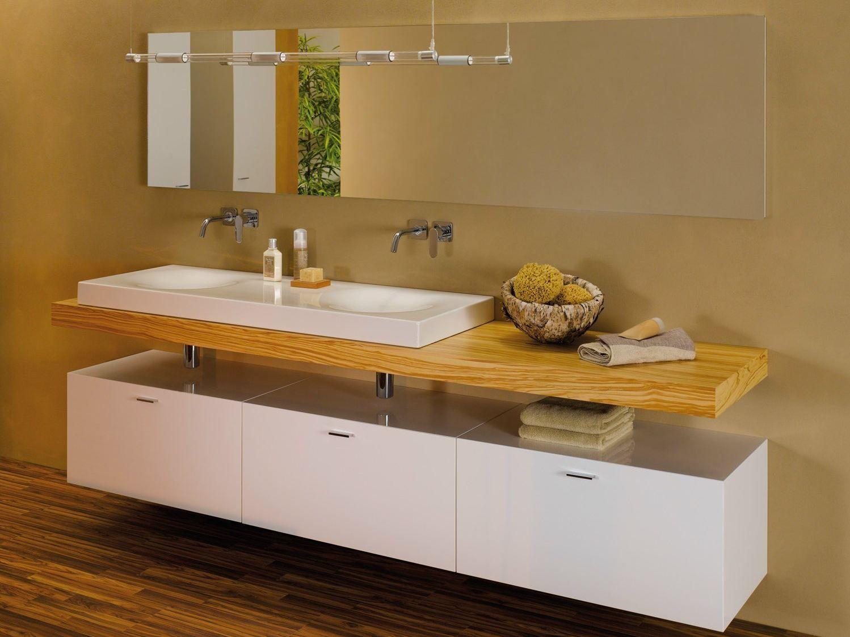Encimera de lavabo simple de madera betteroom tr gerplatte for Diseno decoracion hogar talagante