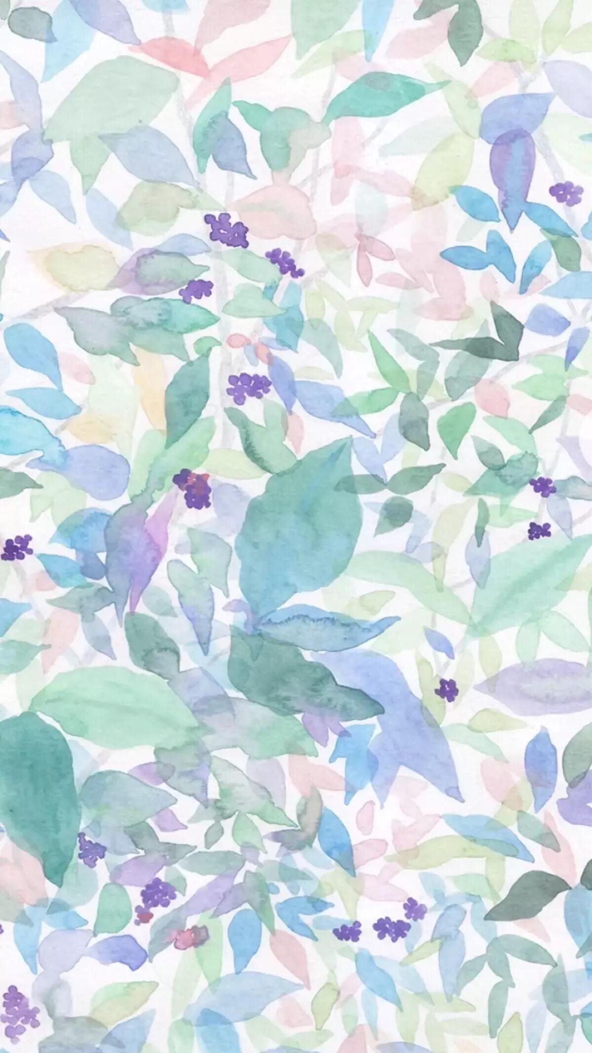 New Design For Digital Printing Watercolor Background Floral