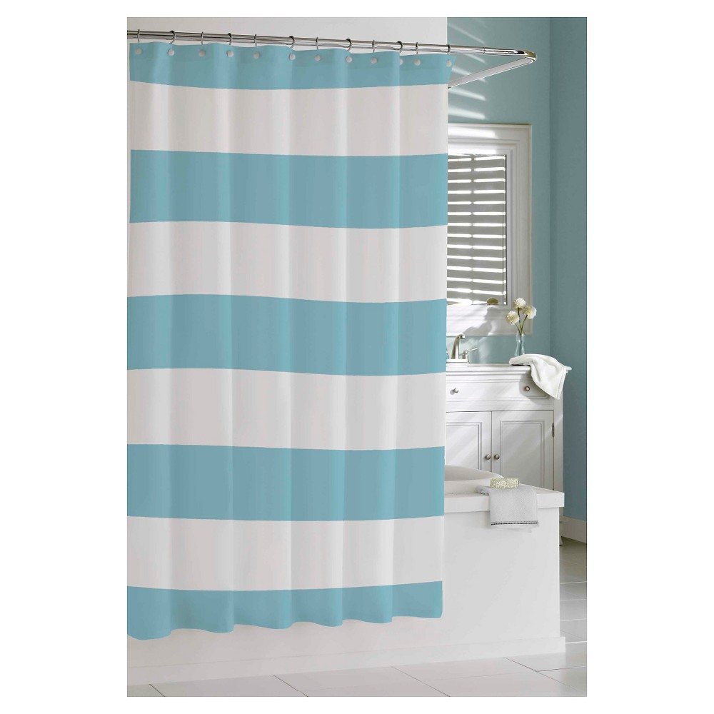 teal striped shower curtain. Kassatex Hampton Stripe Shower Curtain  Spa Blue Striped shower