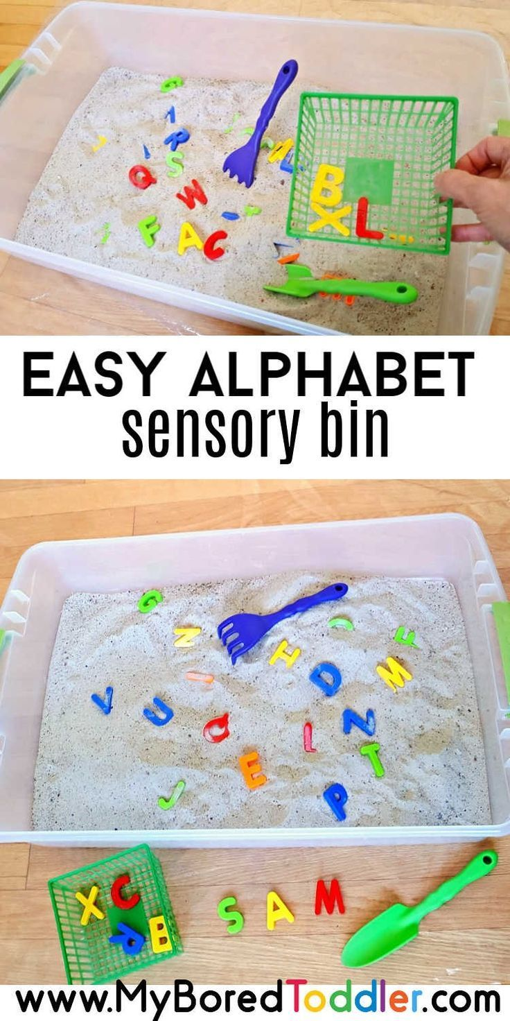 Alphabet Sensory Bin for Toddlers images