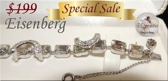 S.A.L.E... Exquisite Eisenberg Emerald Cut by DLSpecialties, $149.00 Best Price Guarantee! Big July Sale Now!