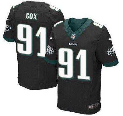 Men s Philadelphia Eagles  91 Fletcher Cox Black Alternate NFL Nike Elite  Jersey b4500fd5f
