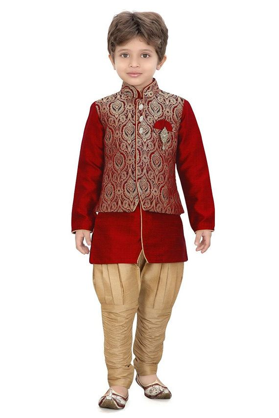 kids boys ethnic indian pakistani sherwani by