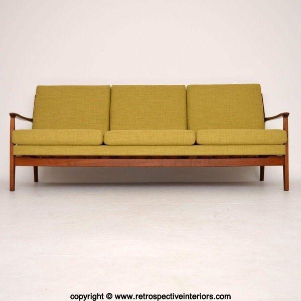 Retro Danish Sofa Bed Vintage 1950 S