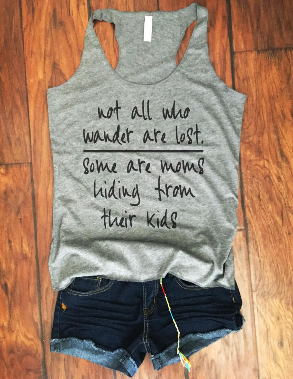 womens mom workout tank workout clothes mom life tank not all who wander are lost tanks mom