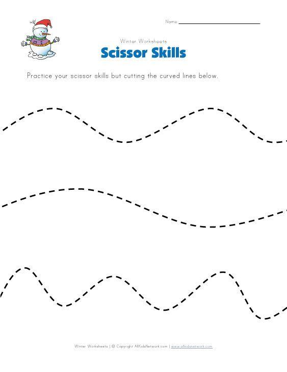 Pin On Visual Motor Practice cutting worksheet for preschool