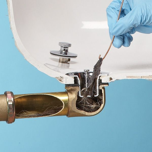 Fix A Clogged Tub Drain Quickly And Easily By Removing The Stopper And  Fishing Out The