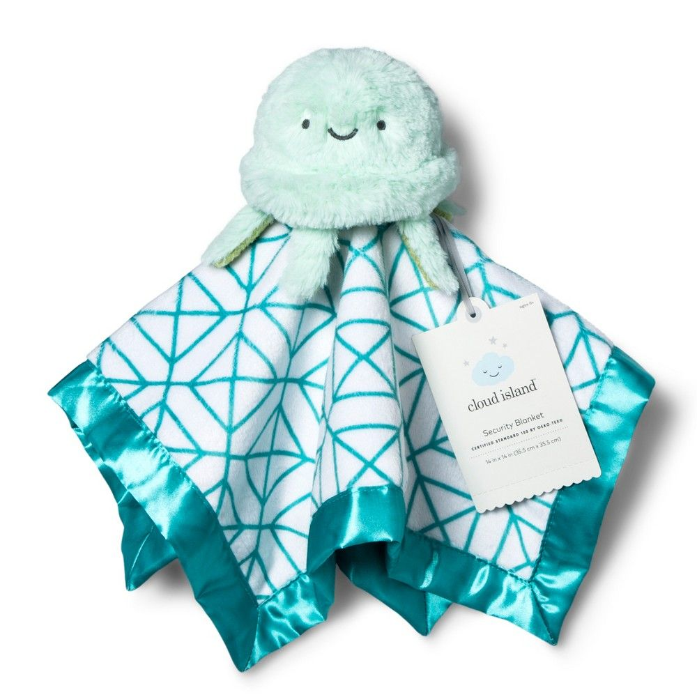 Baby Gift Hamper Box Set Great Newborn Baby Gift Idea! Luxury Organic Muslin Swaddle /& Soft Plush Baby Comforter with Satin Taggies All in A Keepsake Suitcase Keepsake Box